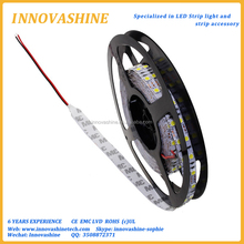 Sticky 5m roll High intensity 120leds/m bright 12 volt flexible Double row LED Strip rohs 5050 3 led light with 3M back tape