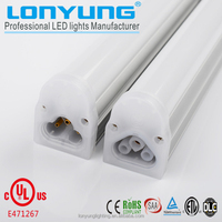 High brightness UL ETL DLC listed 9W 14W 18W 22W integrated t8 led tube light with 3 years warranty