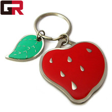 Wholesale Promotion Cheap Custom Metal Strawberry Key ring key buckle,Key chain