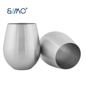 e26d56b5f40 Single Wall Stainless Steel Wine Glass Tumbler With Lid Stemmed Wine Cup  Stainless Steel Beer Pint