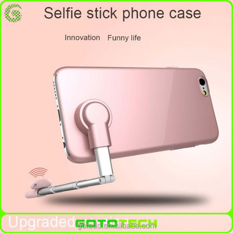 light thin and fashion selfie stick phone case for iPhone