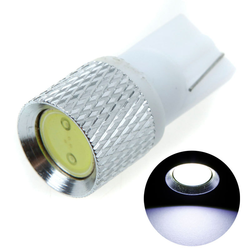 10Pcs/lot 1.5W High Power White SMD LED Car Light Light Blulb T10 W5W 194 168 Side Wedge DC 12V Auto Light Lamp Bulb
