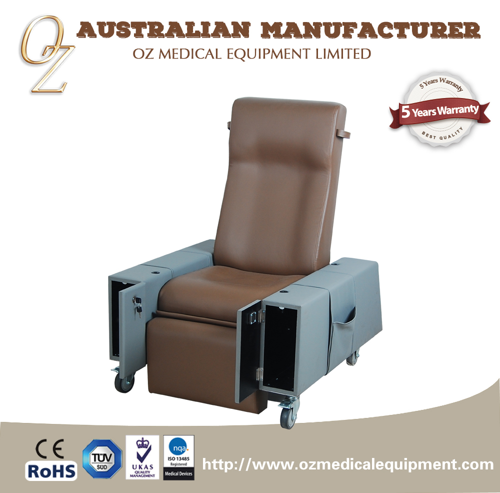 ISO 13485 High Quality Fire Retartant Foam Motorized Age Care Blood Transfusion Chair Donation Couch Wholesale
