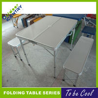 folding picnic table and long bench