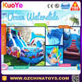 HOT sale sea world inflatable water slide for kids and adult