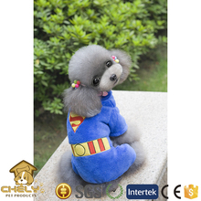 500+models available dog clothes with superman pattern in blue and XXS-XL size