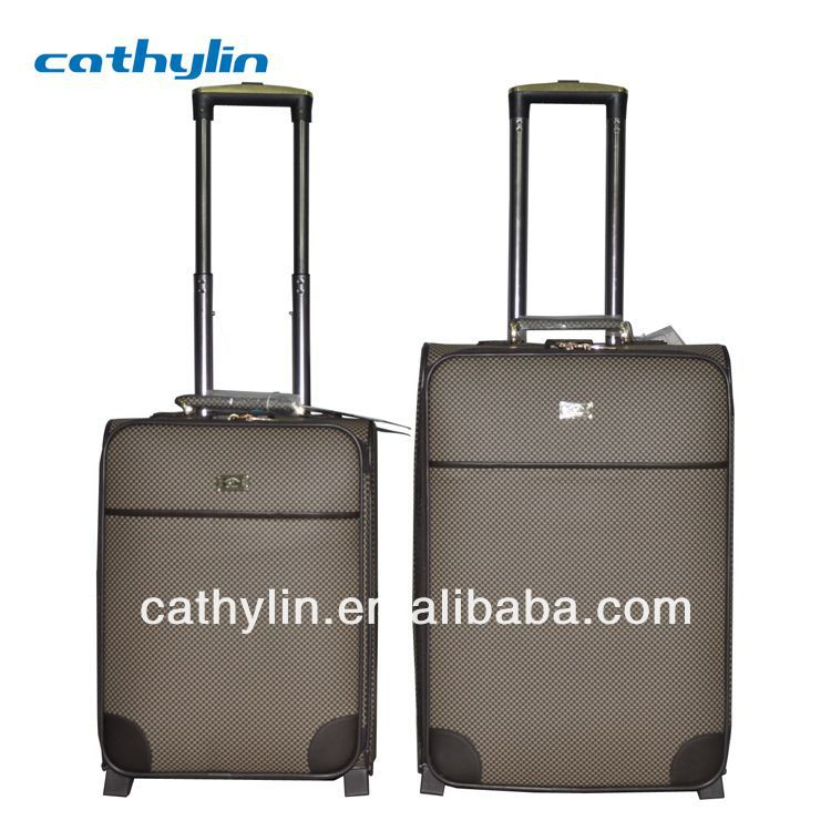 Square Trolley italian leather luggage