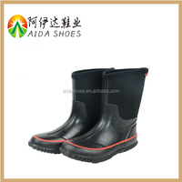 wholesale 2016 fashion kids black transparent rubber boots