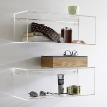 mountable elegant acrylic decorative wall shelf
