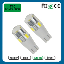 Green 6SMD 5630 T10 Car LED Dashboard Lights