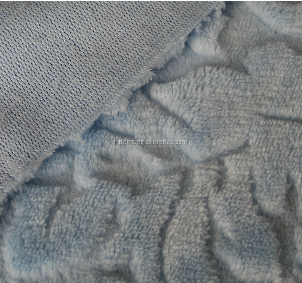 Grey Carved Super Soft Coral Fleece/Flannel Fleece