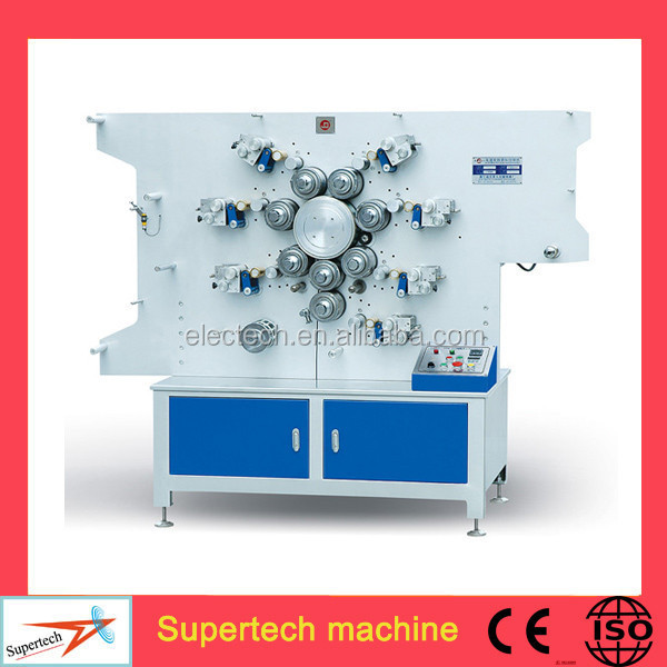 High Speed Seven Colors Double Side Taffeta Label Printing Machine