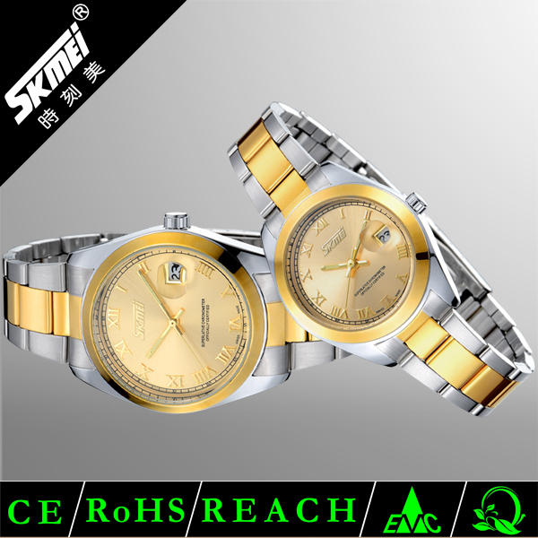 Excellence Quartz Stainless Steel Roles Watches Men Gold Color