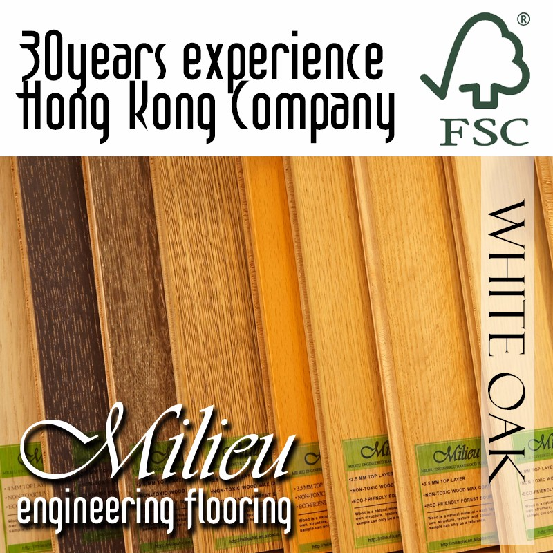 White Oak - Milieu Wood Timber Solid engineering Flooring VOC E0 interior design - Plank UV Laquer coat wood timber Wood Wax