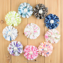 Cute Lace Pearl Decorative Flowers Fancy Baby Girls Flower For Clothes