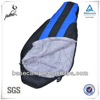 Goose feather down sleeping bags for cold weather