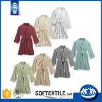 solid color cotton fashion towelling bathrobe for wholesales