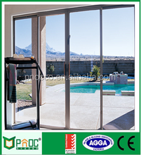 high quality aluminium glass sliding door with security screen door