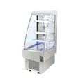 230L Commercial Stainless Steel Glass Beverage and Drink Salad Food Air Front Display Showcase Open Cooler