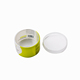 Clear plastic cylinder container round package box with lid