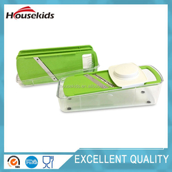 Vegetable Slicer - 4 Blade Inserts, Food Container - Best For Carrots, Cheese, Cucumber, Onion, Tomato and Zucchini