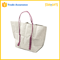 Wholesale 2016 New Design Cheap Strong Tyvek Collapsible Shopping Bag
