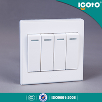 Igoto UK Standard 4gang 1way wall switch use for home