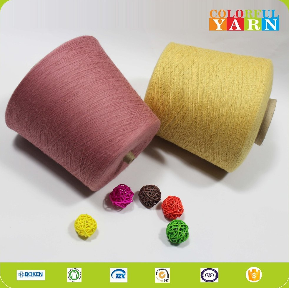 Moisture-absorbent carded cotton yarn for knitting
