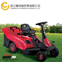 Riding lawn mower with collecter
