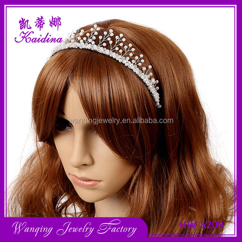 white Crystal Headdress Headband Formal Hair Accessory Wedding Crown Tiara 2017