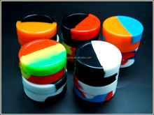 Round customized pharmaceutical grade oil jar herb large 22ml silicone container for wax/oil