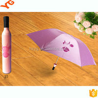 "19""*6K Gifts Metal Frame Rose Shape Bottle Cap Umbrella"