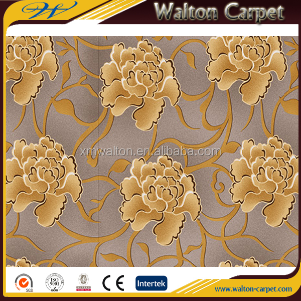 Pattern broadloom modern hotel commercial printed carpet design