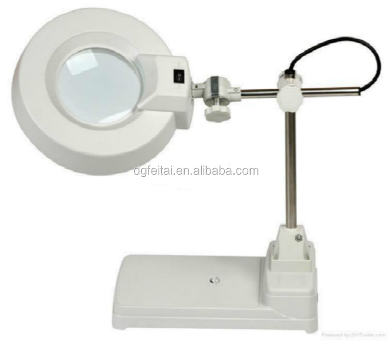 FEITA FT-86B table desk led lighted stand standing magnifier magnifying glass lamp for reading