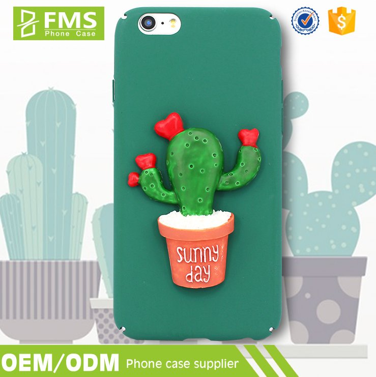 Newest Cute 3D Matte Printing PC Material Hard Plastic Phone Case For iPhone 6 Plus Case