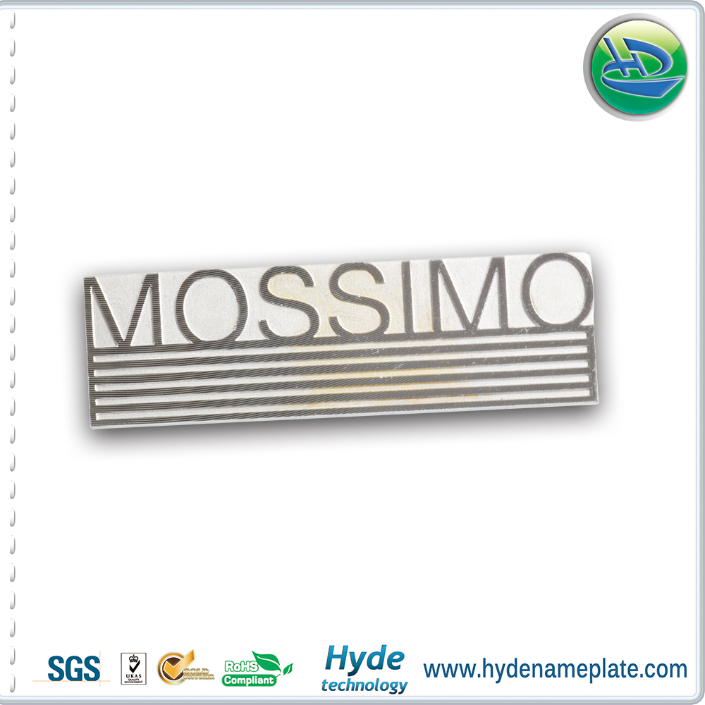 Aluminum Metal Custom Pin Badge Nameplate , Cold Extrusion Custom Pin Badge
