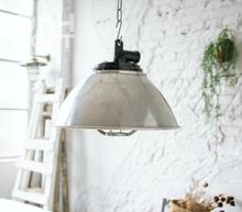 LOFT style Steel type silver Pendant vintage rock round shade industrial loft lighting