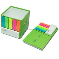 folding cardboard pen holder with sticky note