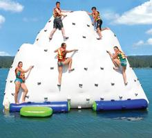 Floating Giant Inflatable Iceberg For Water Climbing Game