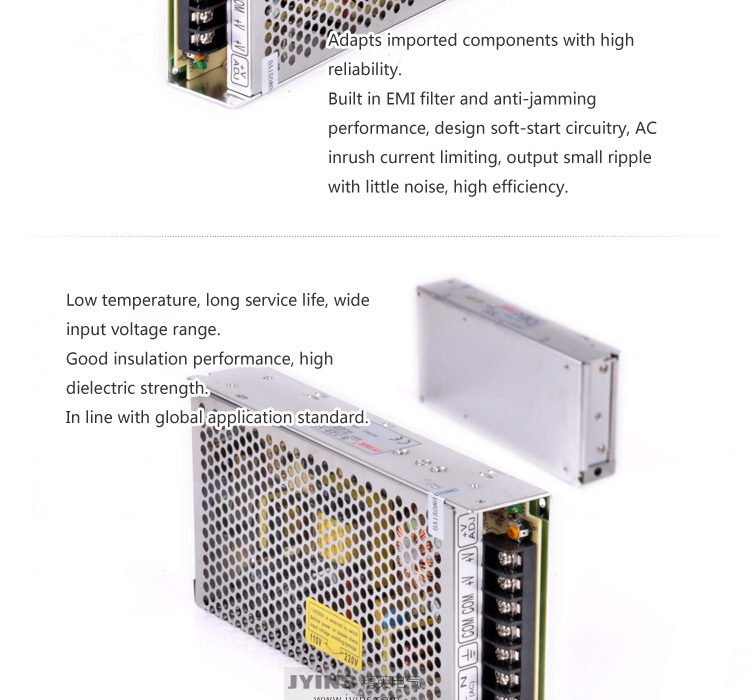 single output smps 110v 220v ac 12v 24v 2a 3a 5a 20a dc regulated led switching power supply