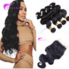 Wholesale Peruvian Virgin Hair 13*4 Free Part Lace Frontal, 100% Peruvian Human Hair Body Wave 3 Bundles