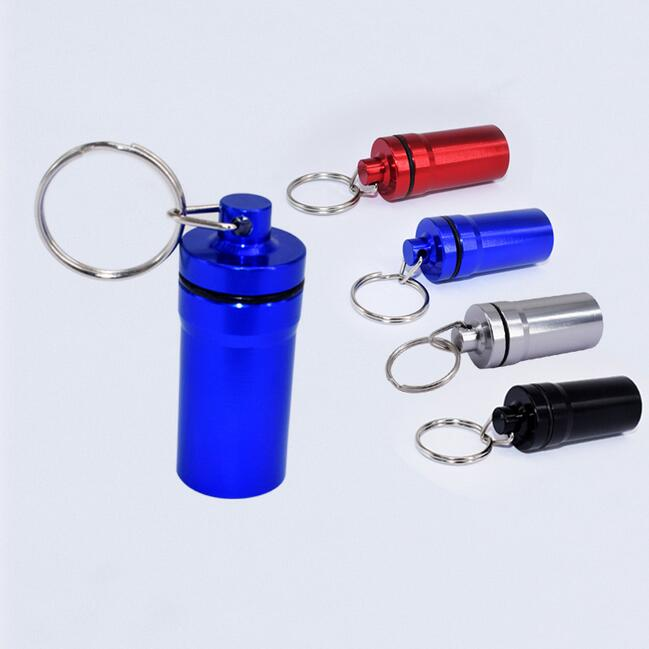 Promotion one week pill box with keychain pill box 7 days pill box