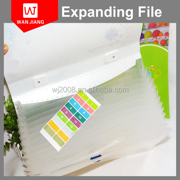 Best selling eco-friendly PP expanding file folding box file