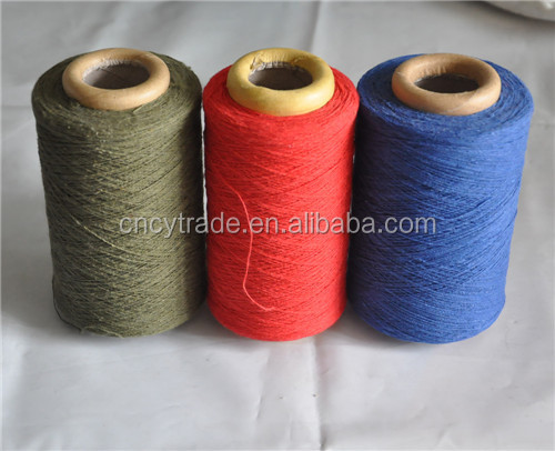 polyester cotton recycled yarn for tape