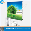 Folding aluminum fabric material pop up display stand pop up signs