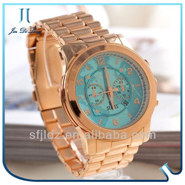 Blue metal alloy luxury watch touch screen calculator watch