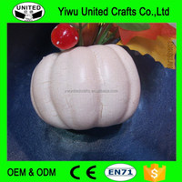 Halloween Decorative Vegetables Wholesale Artificial White Foam Craft Pumpkins