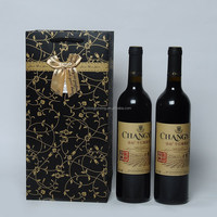 high quality wholesale double wine bottle paper bags