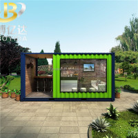 20ft 40ft large windows folding living modern glass home prefabricated container houses price