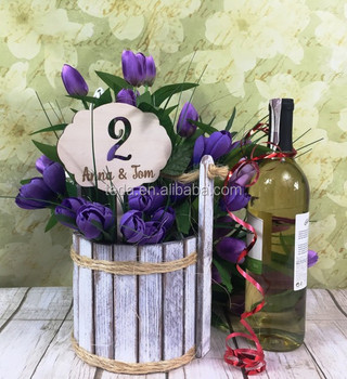 New design custom Natural Wood color table number holder